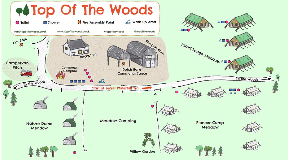 Top of the Woods Site Map 2021 - no tent