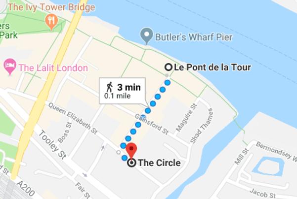 La Pont de la Tour route to The Circle
