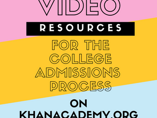 Free video resources from Khan Academy: College Essay Brainstorming and More!