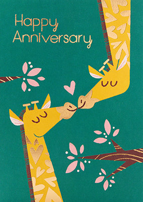 Grußkarte Happy anniversary