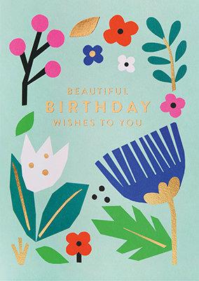 Grußkarte Beautiful birthday wishes to you