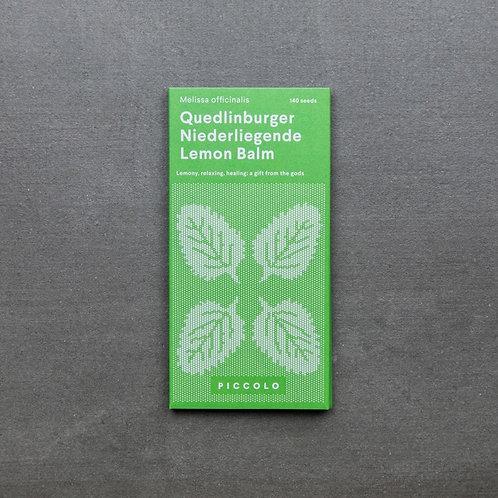 Saatgut Zitronenmelisse Quedlinburger Niederliegende