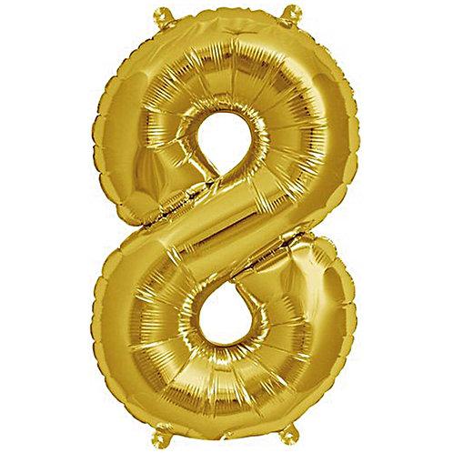 Folienballon 8 gold