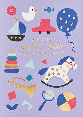 Grußkarte A little baby boy congratulations