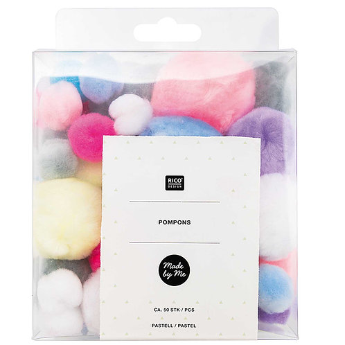 Pompons pastell