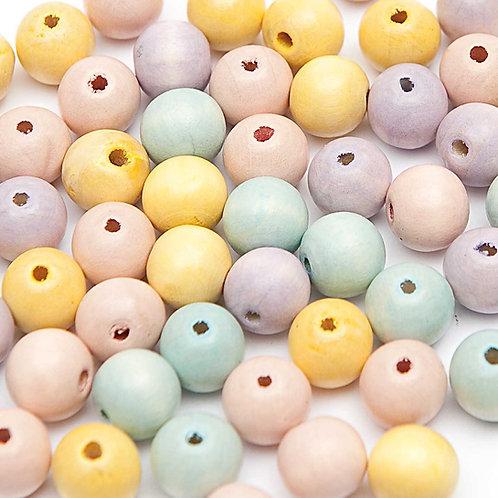 Holzperlen Set pastell