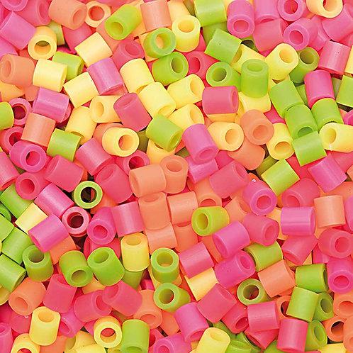 Bügelperlen Mix Neon