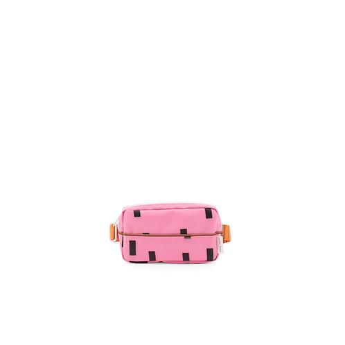 Bauchtasche Sprinkles pink/orange/braun