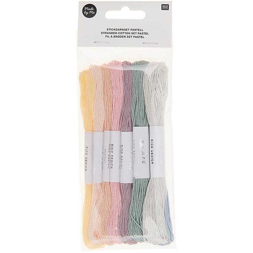 Stickgarn Set pastell