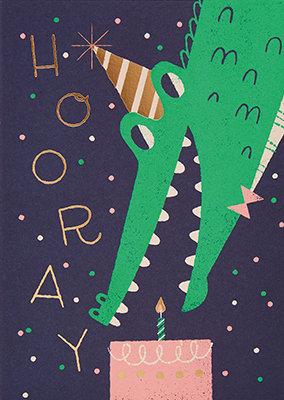 Grußkarte Hooray