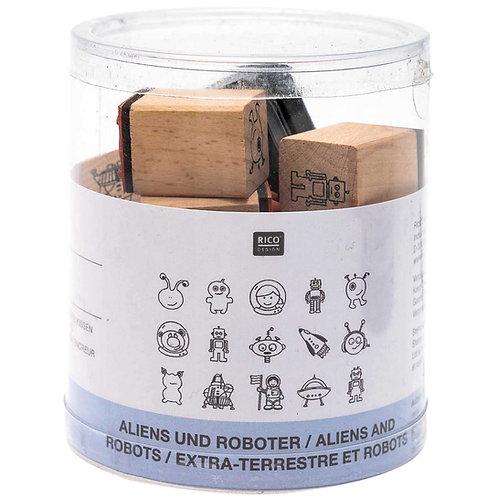 Stempelset Aliens & Roboter