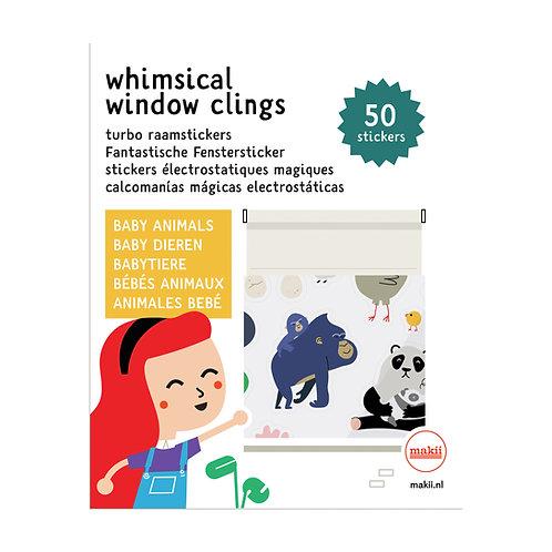Fantastische Fenstersticker Babytiere