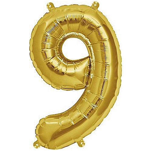 Folienballon 9 gold