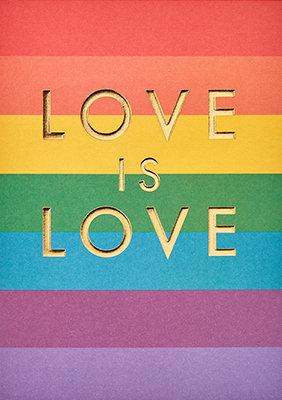 Grußkarte Love is love