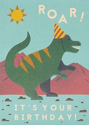 Grußkarte Roar! It's your birthday!