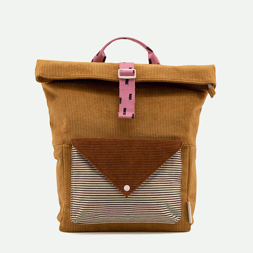 Rucksack Kord groß braun/pink