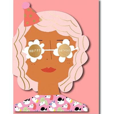Grußkarte Happy birthday Party girl