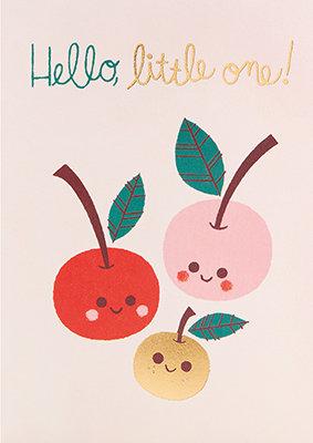 Grußkarte Hello little one!
