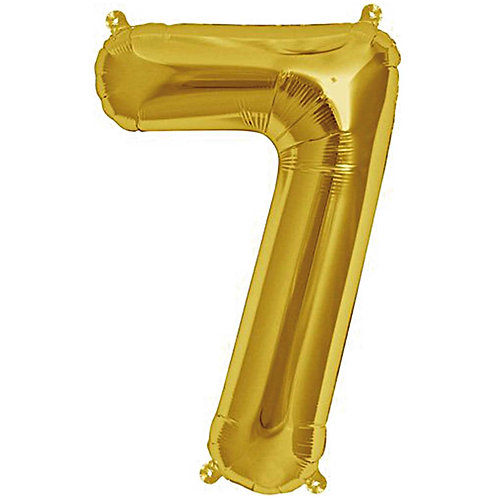 Folienballon 7 gold