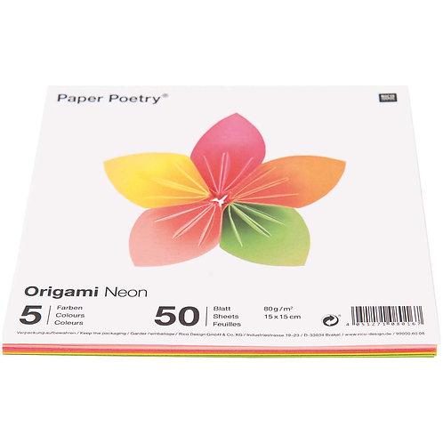Origamipapier neon