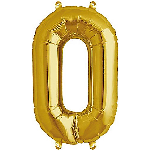 Folienballon 0 gold