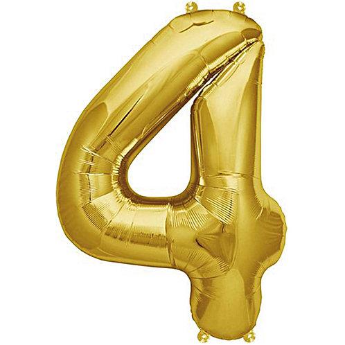 Folienballon 4 gold