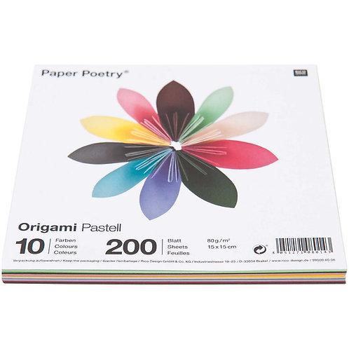 Origamipapier pastell