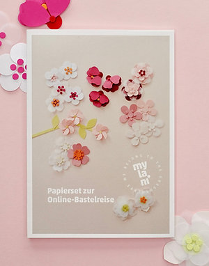 Papierset Kirschblüte