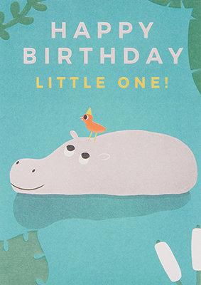 Grußkarte Happy birthday little one!