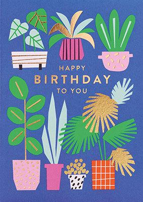 Grußkarte Happy birthday to you