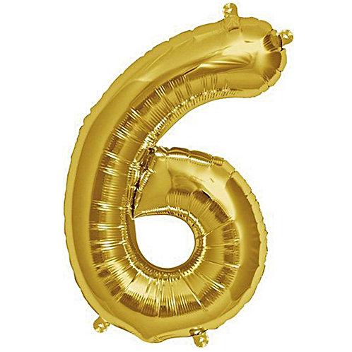 Folienballon 6 gold