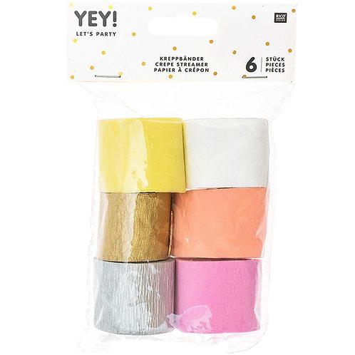 Kreppband Set Pastell