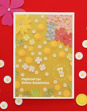 Papierset Blumenwiese