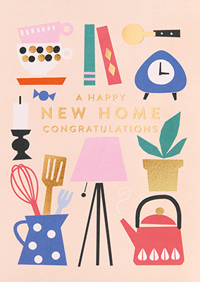 Grußkarte A happy new home congratulations