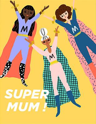 Grußkarte Super mum!