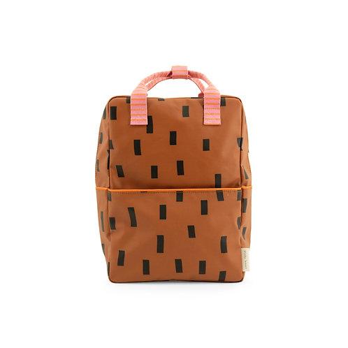 Rucksack Sprinkles groß braun/pink/orange