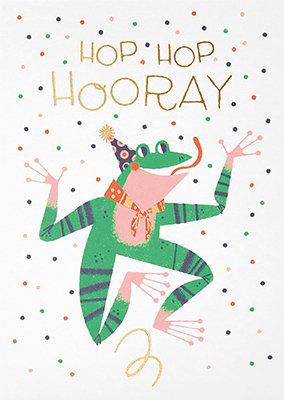 Grußkarte Hop Hop Hooray