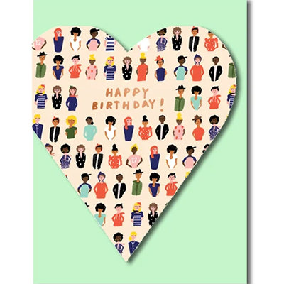 Grußkarte Happy birthday! Heart felt friend