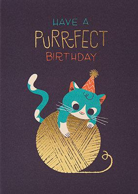 Grußkarte Have a purr-fect birthday