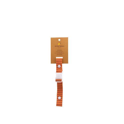 Brustgurt Stripes orange/braun