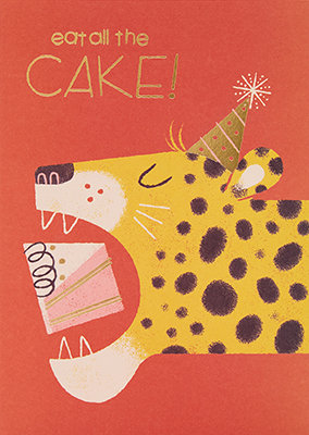 Grußkarte Eat all the cake!