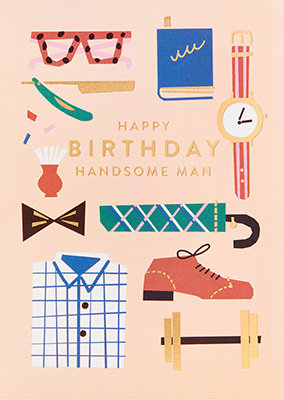 Grußkarte Happy birthday handsome man