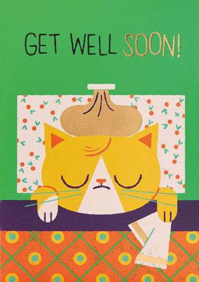 Grußkarte Get well soon!