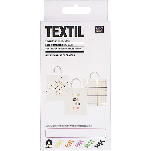 Textilstifte Set Neon