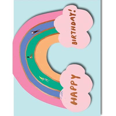 Grußkarte Happy birthday! Rainbow