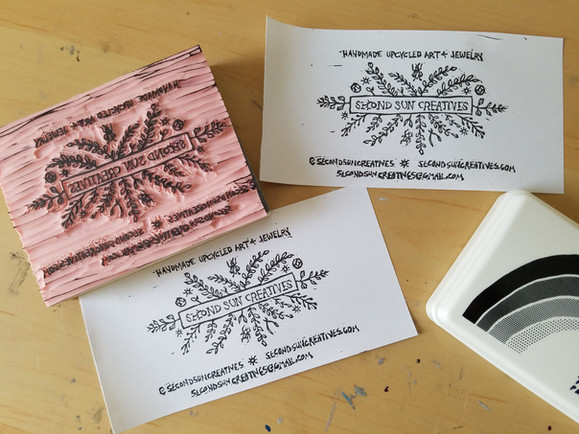 Second Sun Creatives – Business Card Stamp