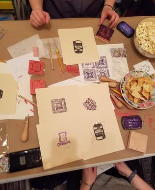 Stamp-Making Workshop @ Make & Mend