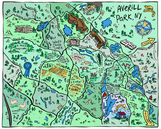 Custom map of Averill Park, NY