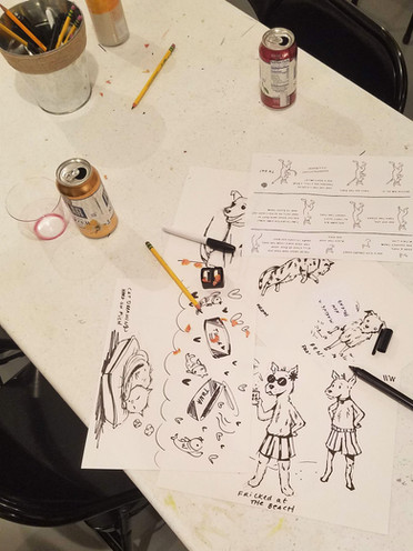 Drinking + Drawing @ Zone 3