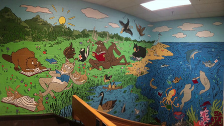 New Mural at Lane Memorial Library on YouTube